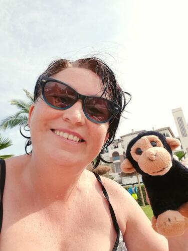 Julie & Kevin the Monkey